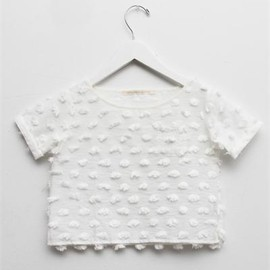 Creatures of Comfort - Lil Julie Top - Puff Cotton White