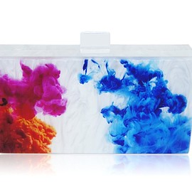 MILANBLOCKS - Art Abstract Paint Acrylic Box Clutch