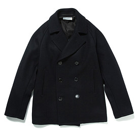 HEAD PORTER PLUS - PEA COAT NAVY