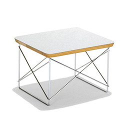 Herman Miller - Eames Wire Base Table LTRT (White x Zinc)