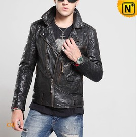 CWMALLS - Quality Italian Leather Motorcycle Jacket Men CW850204