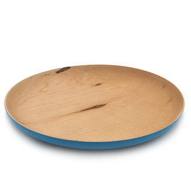 CHIGO PLAYTHINGS - 「PAINTED WOODEN PLATE」Blue L