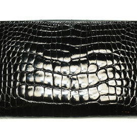 HERMES - Hermes Black Alligator Azap Long Wallet 100% Authentic Never Worn