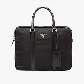 PRADA - Prada 2VE871 Nylon Briefcase In Black
