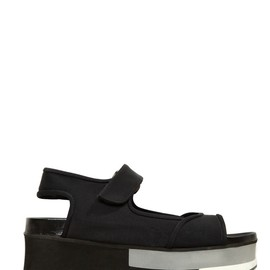 MARNI - 70MM COTTON NEOPRENE WEDGE SANDALS