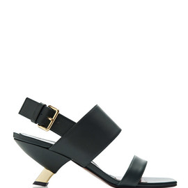 MARNI - Angled Heel Leather Sandals