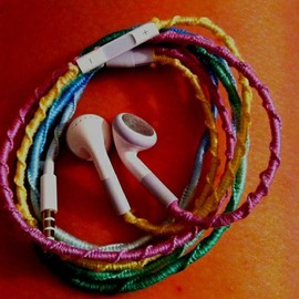 Embroidery Floss Wrapped Earbuds