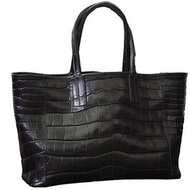 Maison Takuya - Black Alligator bag (with 25 years old alligator skin)