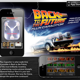 Back To The Future - Pocketable Back To The Future Flux Capacitor   iPhone App