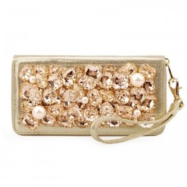 hallomall - Pearls and Rhinestone Leather Clutch