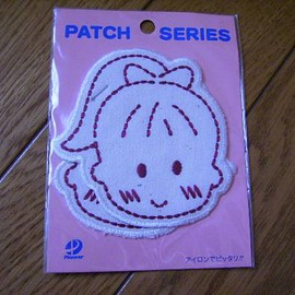 Girl iron patch pink