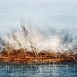 Pep Ventosa - The Sydney Opera House, photograph, blending together dozens of snapshots