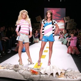 Heatherette - Paris and Nicky Hilton walk the runway at the Heatherette.