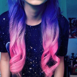 Blue & Pink Ombre Hair
