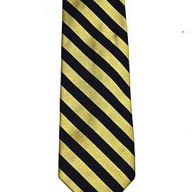 Brooks Brothers - Vintage Gold/Navy Brooks Brothers 346 Silk Necktie Made in USA