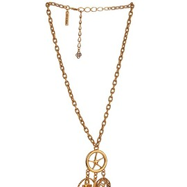 Oscar De La Renta - Nautical gold-plated pendant necklace