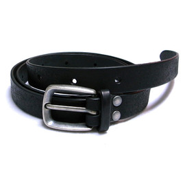 DIGAWEL - LEATHER BELT(BLACK)