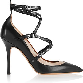 VALENTINO - Pre-Fall 2015 Love Latch eyelet-embellished leather pumps