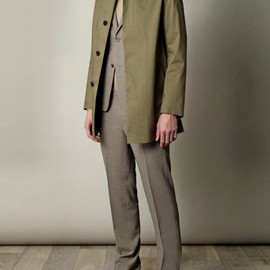 Mackintosh - Mackintosh Dunoon Hooded Coat in Khaki
