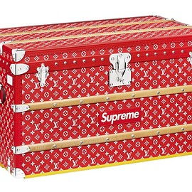 LOUIS VUITTON, Supreme - Malle Courrier 90 Trunk