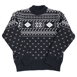OLD JOE & Co. - INDIGO NORDIC SWEATER - BLACK INDIGO