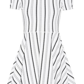 Opening Ceremony - Clos striped textured-jersey mini dress