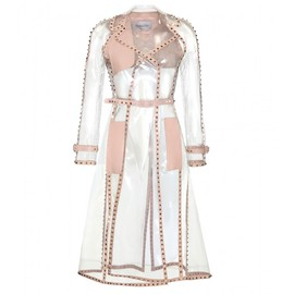 VALENTINO - TRANSPARENT ROCKSTUD TRENCH COAT