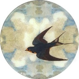 John Derian - flying bird left plate