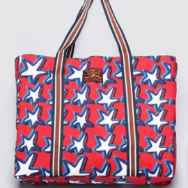 bluespot - 【KRAVITZ】Star Pattern Tote Bag(RED)