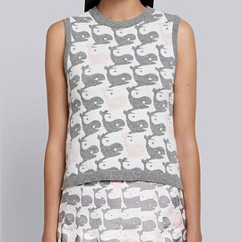 Thom Browne - Whale Intarsia Cashmere Shell Top