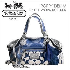COACH - POPPY DENIM PATCHWORK ROCKER