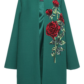 DOLCE&GABBANA - FW2015 Double Crepe Sequin Rose Embroidered Coat