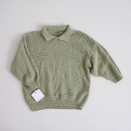 vintage - sage green sweater | collared sweater | 90s cropped sweater
