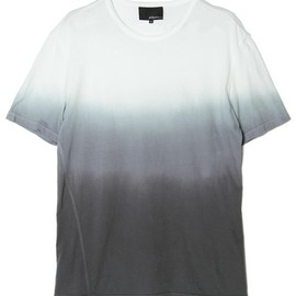 3.1 Phillip Lim MEN - crewneck t-shirt w/dip dye gradient and coverstitch detail