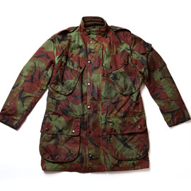 Barbour - Oiled Camouflage Military Jacket
