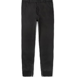 Lanvin - Tapered Zip-Detailed Twill Trousers