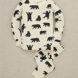 Hatley - Black Bears on Natural Kids' Pajama Set