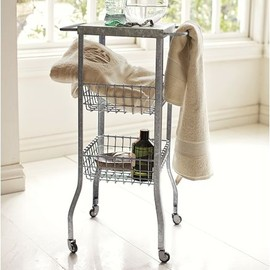 Pottery Barn - Galvanized Metal Floor Storage