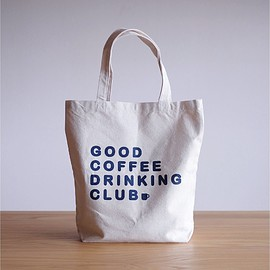 GOOD COFFEE DRINKING CLUB - GCDC basic logo tote bag_natural