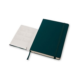 MOLESKINE - 18 MONTHS WEEKLY NOTEBOOK 2015/2016 green hard cover