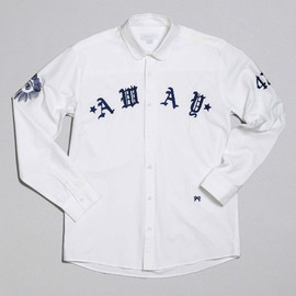 SOULLAND - Away White Shirt w. Navy Embroidery