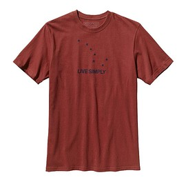 patagonia - Men's Live Simply Dipper Cotton T-Shirt - Rusted Iron