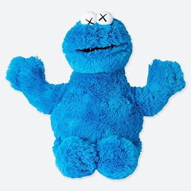 UNIQLO, UT, KAWS - Plush Toy Sesame Street Cookie Monster