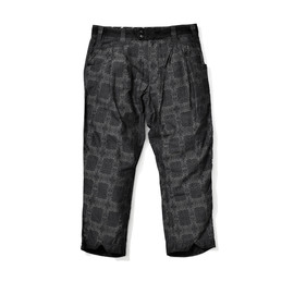 White Mountaineering - COTTON JACQUARD BATIK PATTERN ANKLE TWO-TUCK PANTS