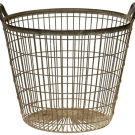 vintage wire laundry baskets