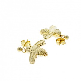 NATURAL HISTORY MUSEUM uk - Gold plated bee earrings