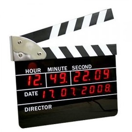 hallomall - Big Size Movie Slate Digital LED Style Clocks