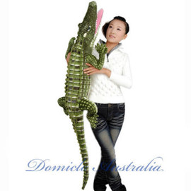 1.6M GIANT HUGE LIFELIKE STUFFED ANIMAL CROCODILE 65""