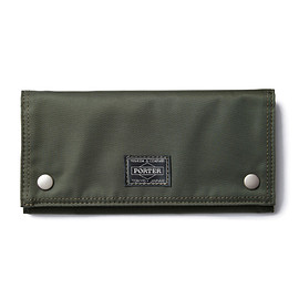 "HEAD PORTER - ""SPIRIT"" WALLET (L) OLIVE"