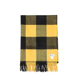 Johnstons - WA000056 Cashmere Stole-Yellow&Black Block Check